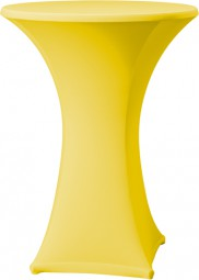 Stehtisch-Stretch-Husse gelb