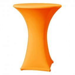 Stehtisch-Stretch-Husse orange