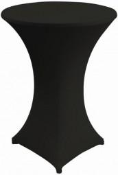 Stehtisch-Stretch-Husse schwarz