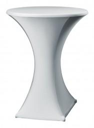 Stehtisch-Stretch-Husse Silber/Grau