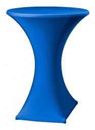 Stehtisch-Stretch-Husse blau
